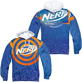Nerf Target Practice Unisex Adult Front and Back Sublimated Pull-Over Hoodie for Men and Women