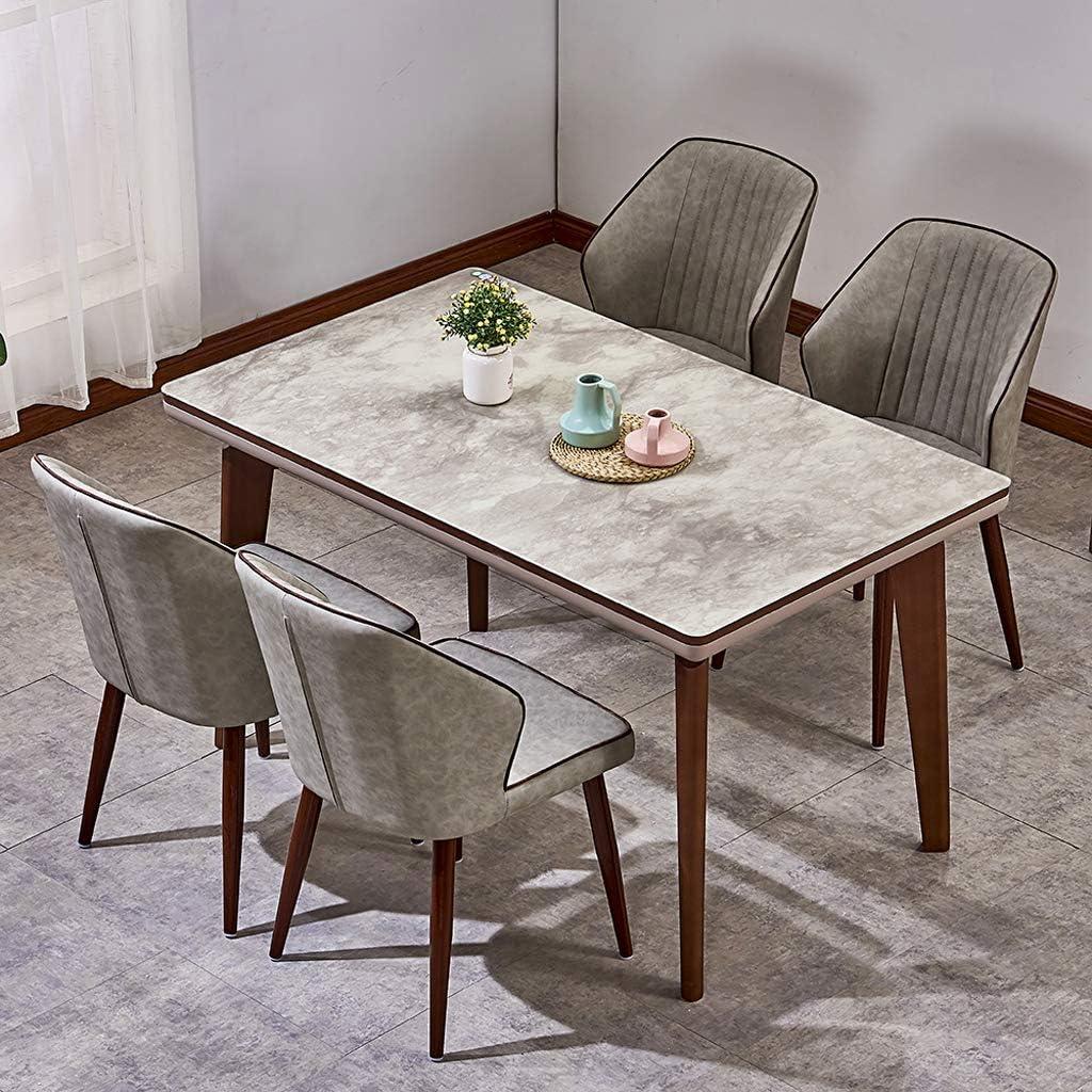 Lxn Chaise de Salle à Manger en Fer forgé de Luxe - Minimaliste et Moderne - Dossier de siège en Cuir synthétique avec Pieds en métal pour Le Bureau de Home Hotels - 1PCS Gray#2