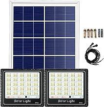 Yrod Light Spotlight op zonne-energie met bewegingsmelder, 400 W, 600 W, 800 W, 1000 W, waterdicht, lampfitting, multirefl...