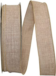 Reliant Ribbon 92573W-750-09K Everyday Linen Value Wired Edge Ribbon, 1-1/2 Inch X 50 Yards, Natural
