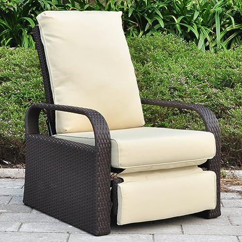 Strange Reclining Rattan Garden Furniture Amazon Co Uk Download Free Architecture Designs Ogrambritishbridgeorg