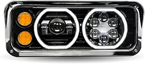 Trux Accessories 18in. x 11in. Universal Passenger's Side LED Projector Semi-Truck Headlight - Model Number TLED-H103
