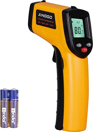 ANGGO Infrared Thermometer, Non-Contact Digital Laser Temperature Gun -58℉~788℉(-50℃~420℃) for Cooking/Air/Refrigerat...