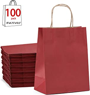 Red Gift Bags 8x4.75x10.5