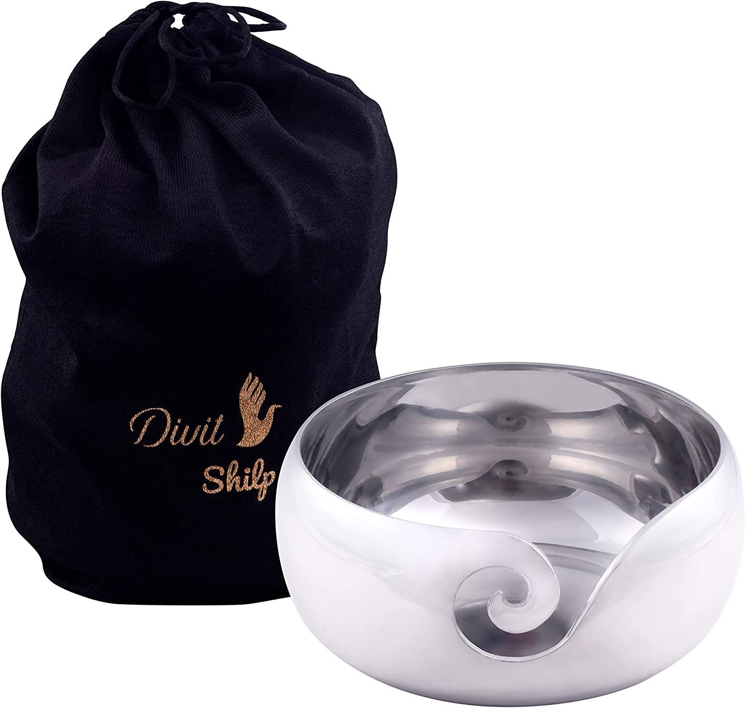 Divit Shilp Max New Shipping Free Shipping 49% OFF Handcrafted Metal Yarn Knitting Wool Storage B Bowl