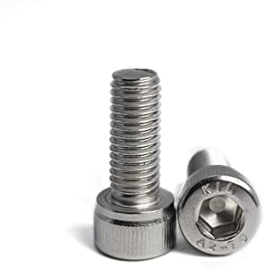 M8 x 90mm Socket Head Cap Screws 304 Stainless Steel Metric Machine Bolts Hex Socket Screw, 10PCS
