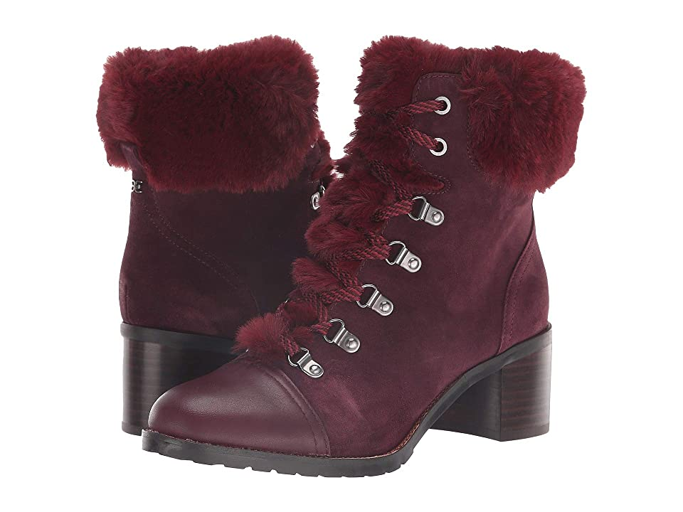 Retro Boots, Granny Boots, 70s Boots Sam Edelman Manchester Deep BurgundyWine Velutto Suede LeatherModena Calf Leather Womens Shoes $179.95 AT vintagedancer.com