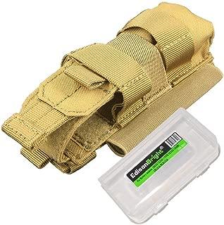 EdisonBright Nitecore NCP30 (Tan color) Molle compatible flashlight/magazine cordura holster with BBX3 battery case