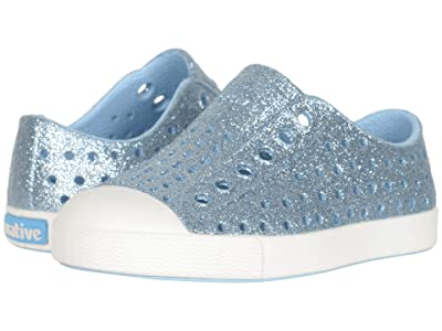 Native Kids Shoes Jefferson Bling Glitter (Toddler/Little Kid) (Light Sky Bling/Shell White) Girls Shoes