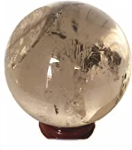Yinglai 60-65mm Natural Smoky Quartz Round Ball Crystal Gemstone Rock Spheres Healing..