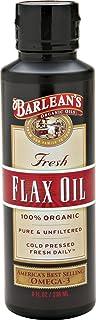 Barlean's Organic Oils Fresh Flax Oil, 8-Ounce Bottles (Pack of 2)