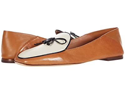 Tory Burch 5 mm Charm Loafer (Tan/New Ivory/Perfect Black) Women