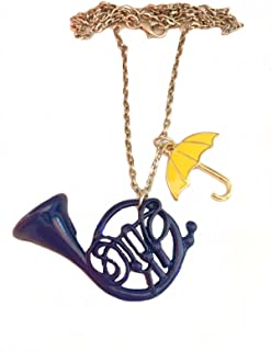 How I Met Your Mother Orecchini Corno blu ombrello giallo Blue French horn Metal
