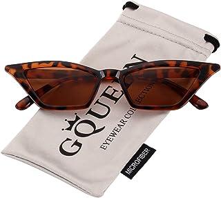 5b8b4bc5ea GQUEEN Gafas Vintage Clout Lentes de sol tipo ojo de gato Estilo a la moda y