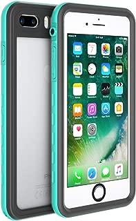Fansteck iPhone 8 iPhone 7 Waterproof Case, IP68 Full-Body Protect Rugged Slim Crystal Case with Built-in Screen Protector, Waterproof/Snowproof/Shockproof/Dirtproof, 4.7 inch (Aqua Blue/Black)