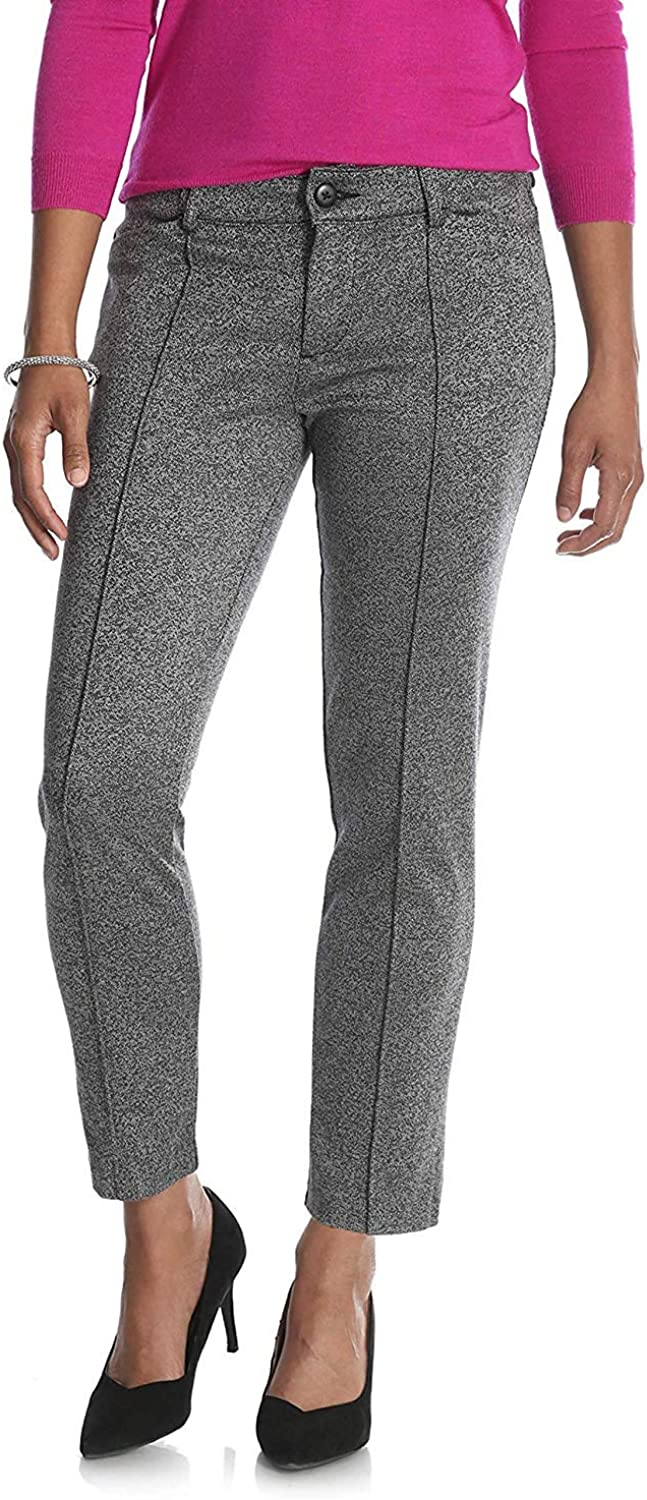 LEE Riders Slim Fit Knit Ankle Rayon and Nylon Casual Pants Grey Boucle, Medium