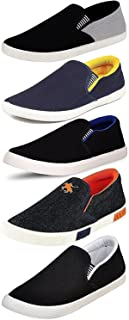 CLYMB Perfect Combo Pack of 5 Loafer Shoes for Men