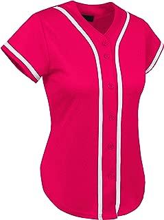 Ma Croix Made in USA Premium Baseball Jersey Active Button Shirt Uniform for Men Women Juniors Family Made in USA