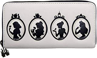 Loungefly x Disney Princess Silhouette Quilted Zip-Around Wallet