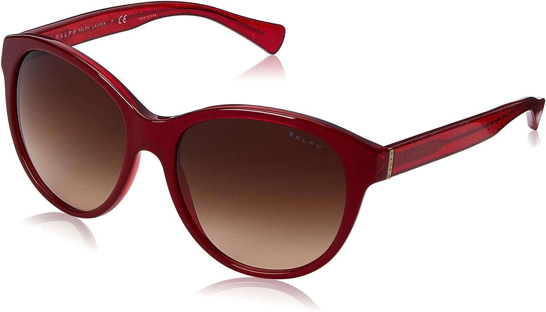 Ralph by Ralph Lauren Women's 0RA5197 Rectangular Sunglasses, Black Gradient,Black