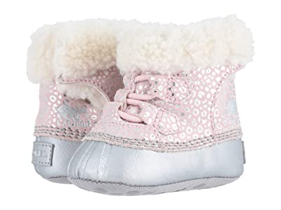 SOREL Kids Caribootietm II (Infant) (Dusty Pink/Chrome Grey) Girl