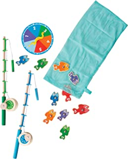 Melissa & Doug 5149 Catch & Count Wooden Fishing Game With 2 Magnetic Rods