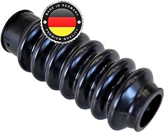 WS · SYSTEM 2x Universal Faltenbalg aus Gummi – 2 Stk flexible & dehnbare Achsmanschette MADE IN GERMANY aus hochwertigem PVC – Schelle in Größe: L 75mm 118mm Ø 25mm 30mm