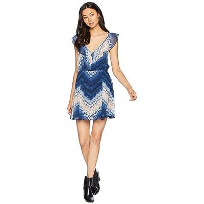 BCBGeneration Ruffle Fit Elasticated Dress (Tie-Dye Breeze) Women