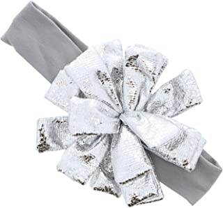 Puffy Shiny Foil Flower Holiday Baby Headband For Girls