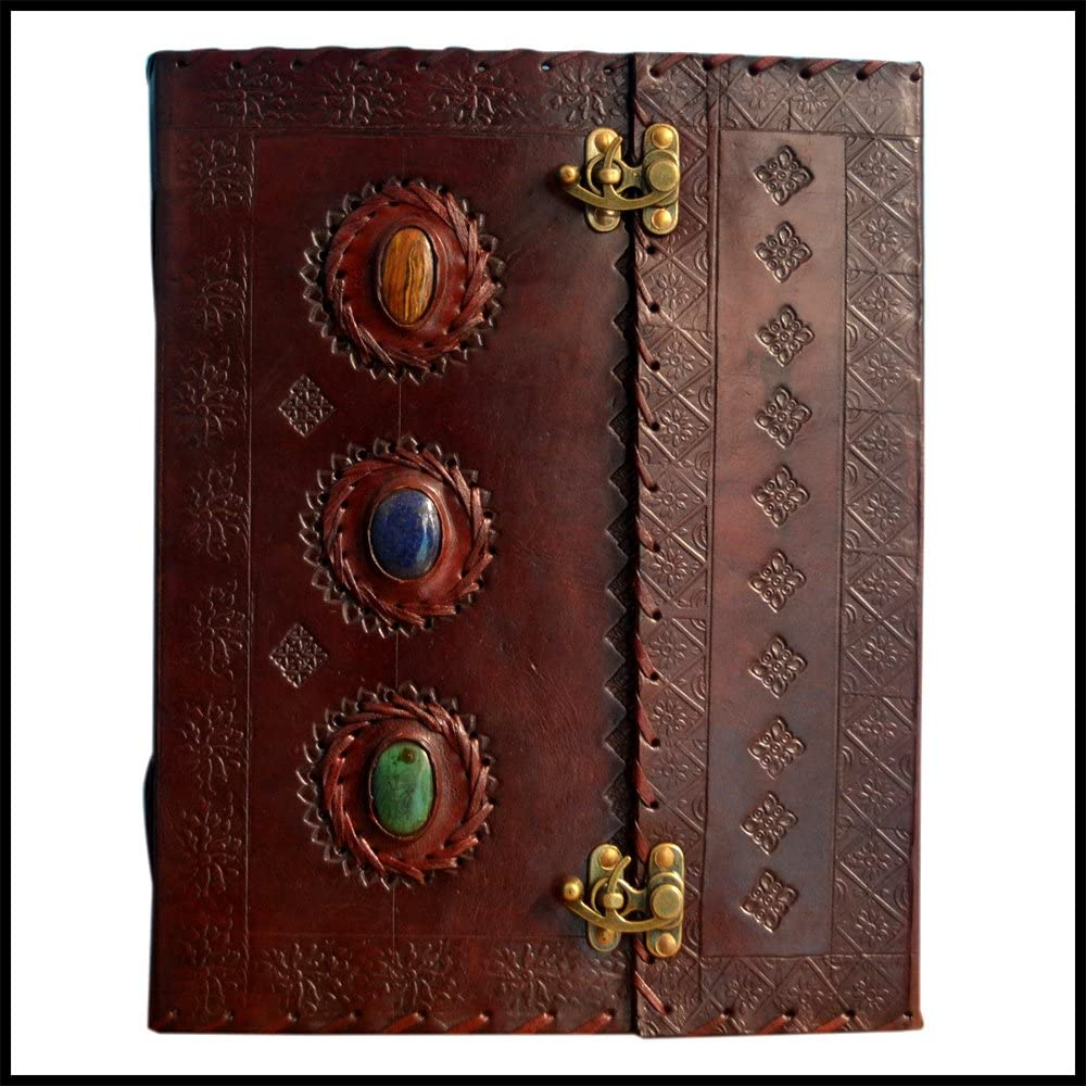 Leather Journal Special Campaign Tucson Mall Book Three Medieval Handmade Pers Stone Embossed