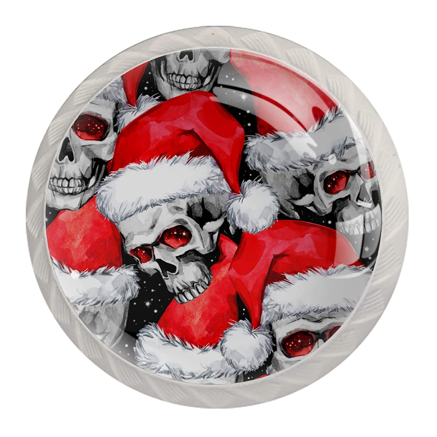 Cabinet Knobs Nashville-Davidson Mall Skull Christmas Dealing full price reduction Hat 4 G Round Crystal pcs Colorful