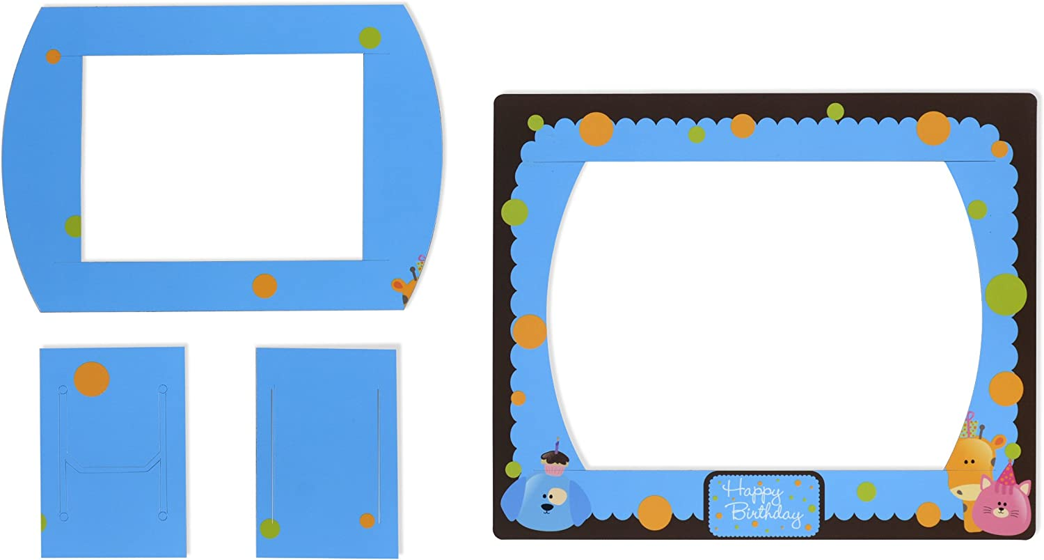 Displays2go 4-Piece Magnet Frames for Children's Limited price sale Birthday Blue It is very popular
