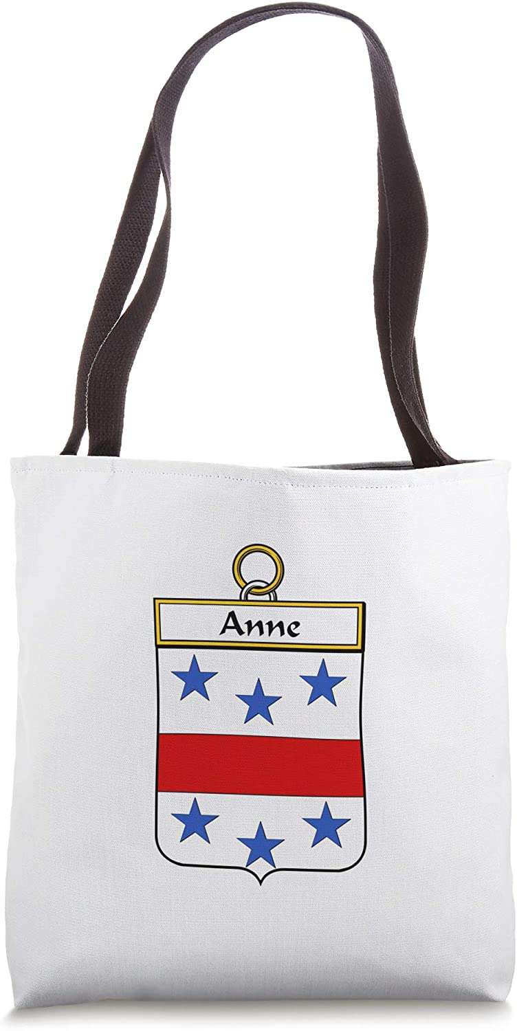Anne Coat of Arms - Family Crest Tote Bag