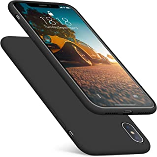 DTTO iPhone Xs Case/iPhone X Case, Silicone Case [Romance Series] iPhone 10x Slim Fit Case with Hybrid Protection for Apple iPhone Xs (2018)/iPhone X (2017) 5.8 Inch-Black
