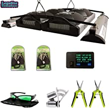 California Lightworks Solar System 1100 UVB Premium Package- Optimal Performance Accessories Included   2 Pairs Grow Crew Ratchet Hangers and Legalize Tomatoes Sticker