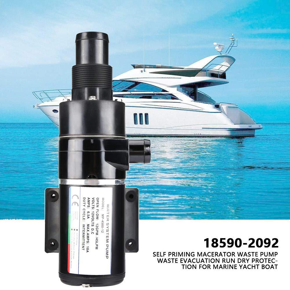12 V Druckwasserpumpe Abwasserpumpe mit Selbstansaugenden Funktionen Effizient Wasserpumpe f/ür Boot und Auto