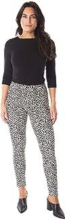 INTRO. Tummy Control High Waist Pull-On Cotton \ Spandex Legging - Multicolored - Petite Medium