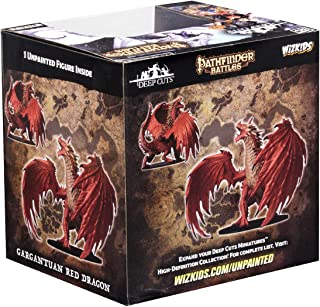 WizKids Pathfinder Battles: Deep Cuts Unpainted Miniatures: Gargantuan Red Dragon