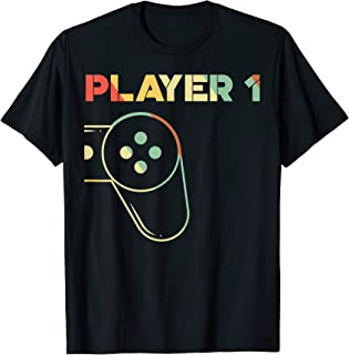 Gamer Couple Tee Player 1 Player 2 Shirt, Player 1 Player 2