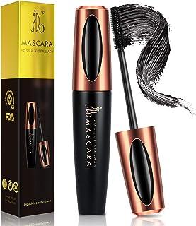 JDO Mascara Waterproof Black Mascara 4D Silk Fiber Lash Mascara Smudge-proof Long Lasting for Lengthening Voluminous Eyelashes Charming Eye Makeup No Clumping No Flaking