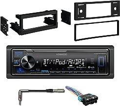 Kenwood KMM-BT225U Single-DIN Digital Media Bluetooth Receiver, Metra 99-3002 Dash Kit for Select 95-05 GM Vehicles, Radio Wiring Harness, Antenna Adapter