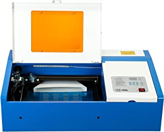 Orion Motor Tech Upgraded 40W Co2 Laser Engraving Cutting Machine, 12 x 8 Inches K40 Desktop DIY Wood Laser Engraver Cutter (Second Version)