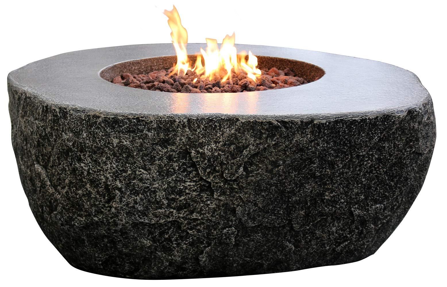 """Ohio Flame 24/"""" Steel Fire Ring in Black High Heat Finish"""
