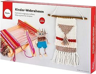 Rayher 7202200bois enfants de métier à tisser, 18,5x 29cm, webbr de Page 16,5cm, naturel, 320x 190x 4cm