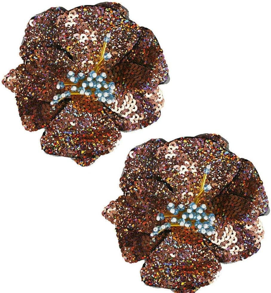 DIY Hand Sewing Technology for Flower-Shaped Diamond Embroidery Sequins Clothing Decoration Fittings Color1:White