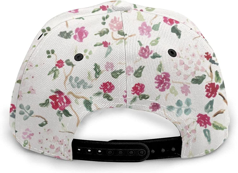 Floral Baseball Cap for Women Fashionable, Low Profile Adjustable Baseball Hat, Washed Dad Hat for Summer