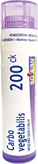 Boiron Carbo Vegetabilis 200CK, 80 Pellets, Homeopathic Medicine for Bloating and Gas
