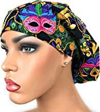 Womens Surgical Scrub Hat OR Nurse Cap Euro Style New Orleans Mardi Gras Jazz Bouffant Cap