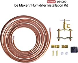 Hydro Master 0540001 1/4 IN x 15 FT Copper Tubing Ice Maker and Humidifier Installation Kit, Lead Free