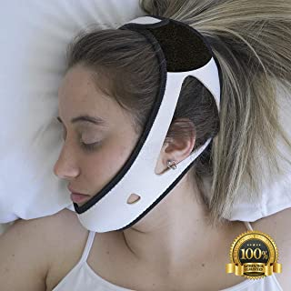 PrimeSiesta: Anti Snoring Chin Strap - Snore Stopper & Snoring Solution - Breathable, Flexible & Easily Adjustable with Eversoft Technology (MediumLarge)